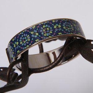 Vera Bradley Blue Floral Hinged Bracelet